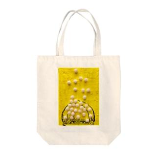 ポンポン Tote bags