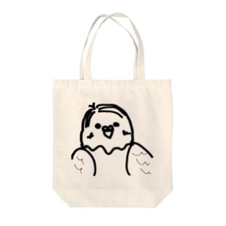 7:3分けおじさんインコ Tote bags