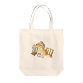 サイフォンコーヒーうさぎさん Tote bags