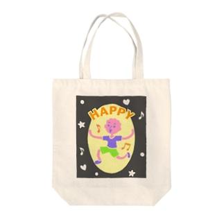 HAPPY【カラフル元気はつらつ】 Tote bags