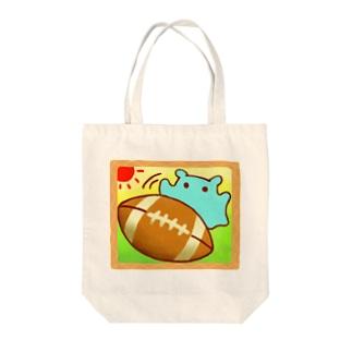 楽しい♪ラグビーボール【水星人のスイスイちゃん】 Tote bags