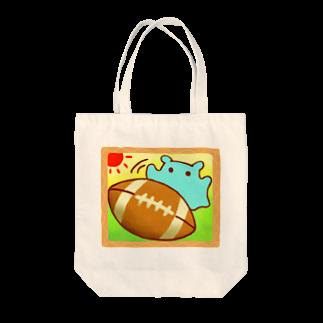 ひじりやノエルの楽しい♪ラグビーボール【水星人のスイスイちゃん】 Tote bags