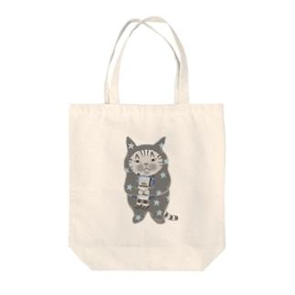 ロボットをぎゅっ(グレー) Tote Bag