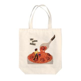 ミートボールパスタ Tote bags