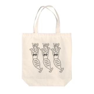 シュールな人魚姫(モノクロ) Tote bags