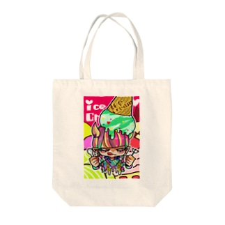 三白眼アイスちゃん Tote bags