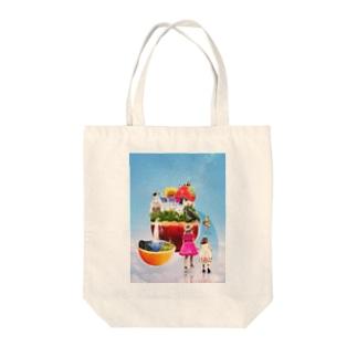 夢のお城と楽園 Tote bags