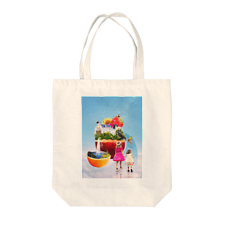 .A02 DESIGN STUDIO の夢のお城と楽園 Tote bags