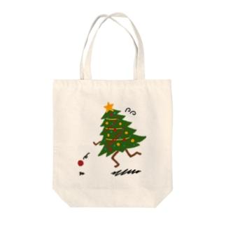 オーナメントを追いかけるツリー Tote bags