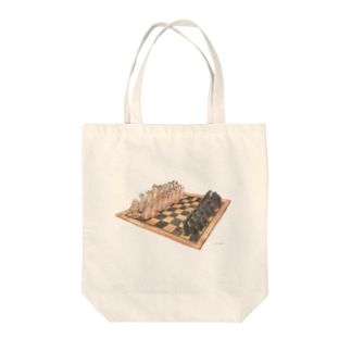 Rabbit chess Tote bags