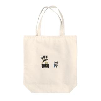 猫とアンドロイドのマグカップ Tote bags