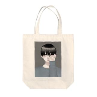 嘔吐の可愛い男 Tote bags