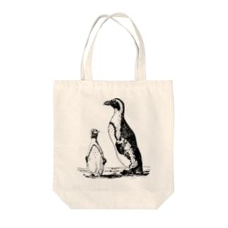 古書 天牛書店のペンギン <アンティーク・プリント> Tote bags