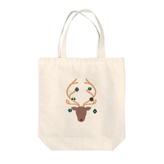 オーナメントナカイ Tote bags