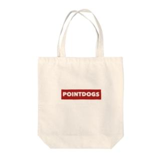 シューティングバーポイントドッグスロゴ Tote bags