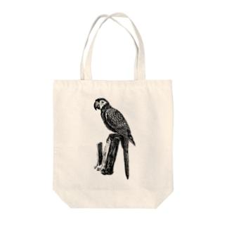 インコ <アンティーク・プリント> Tote bags