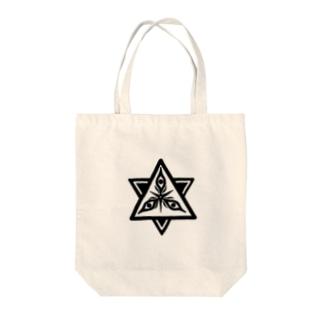変な宗教君 Tote bags