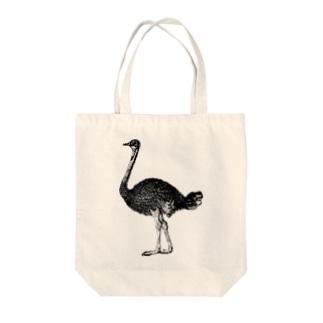 ダチョウ <アンティーク・プリント> Tote bags