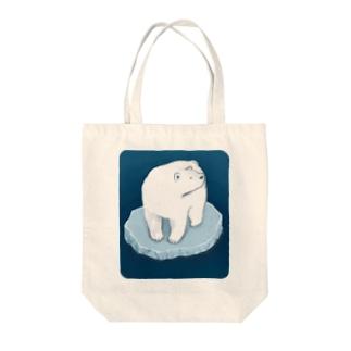 氷とクマ Tote bags