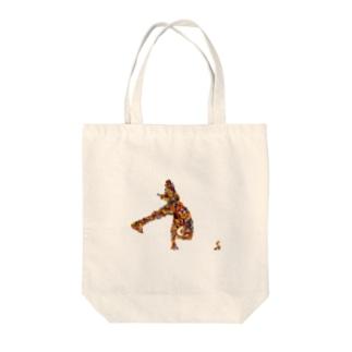 ブレイクダンサー Tote bags