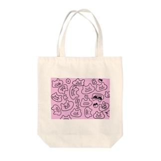 いろいろブヒ子 Tote bags