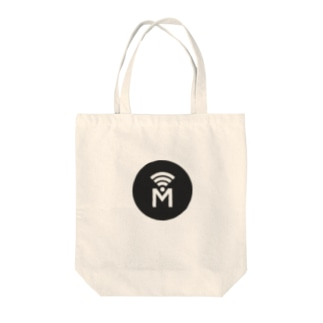 Mi3e Circle Black Tote bags