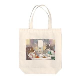 ポッツァレラとリチャード Tote bags