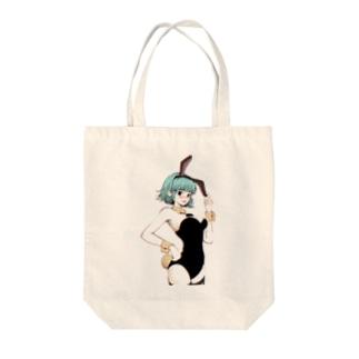 bunny girl Tote bags