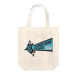 ロゴ ブルー Tote bags