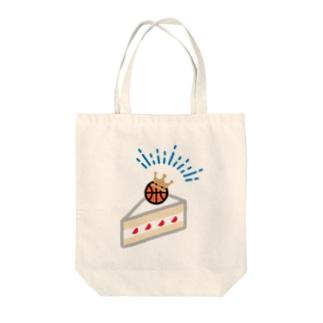 バスケーキ Tote bags