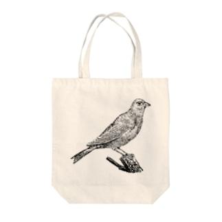 カナリア <アンティーク・プリント> Tote bags