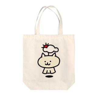 【SALE】てるてるネコ(通常) Tote bags