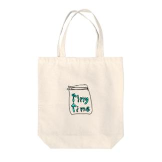 タイニータイム Tote bags