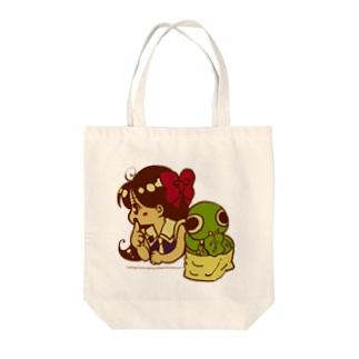 森&クリームお買い物(カラー) Tote bags