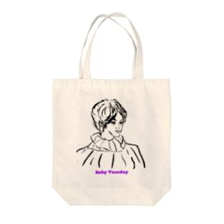 ルビーチューズデイ Tote bags