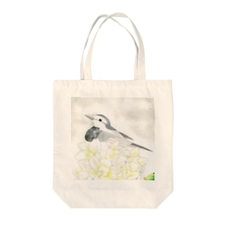 White〜ハクセキレイ Tote bags