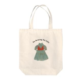 騒がしい風ドレス Tote bags
