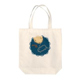 モルモットの落し物デザイントート(柄小) Tote bags