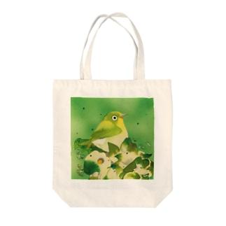 Green〜メジロ Tote bags
