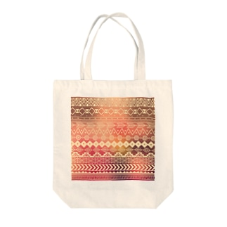 ネイティブ柄B Tote bags