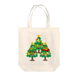 CT89 森さんのクリスマスツリーB Tote bags