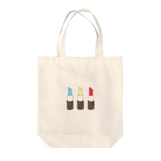 カラフルリップ Tote bags