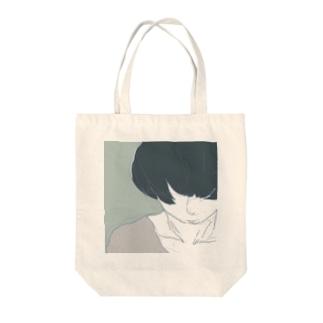 うつむきマッシュ Tote bags