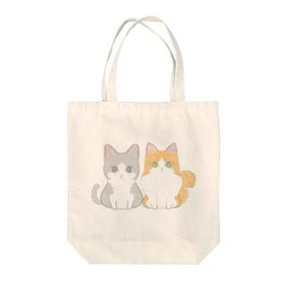 仲良し猫さん Tote bags