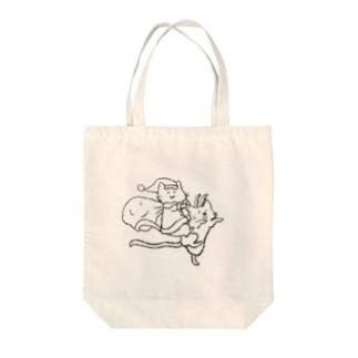 ニャンタさんとトニャカイ Tote bags