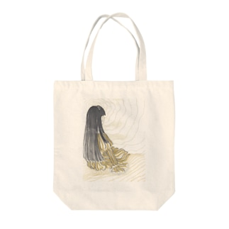 思案_背景付き Tote bags