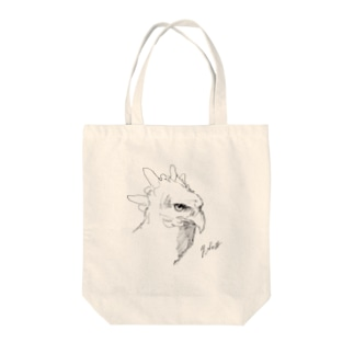 hugu1222yのカンムリクマタカのクロッキー Tote bags