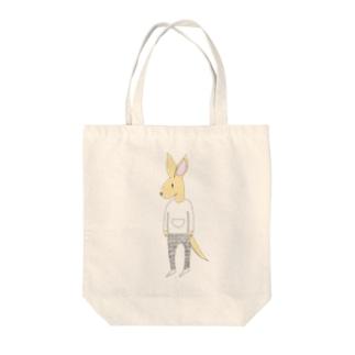 kangarooカラーバージョン Tote bags