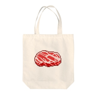 お肉ドット Tote bags