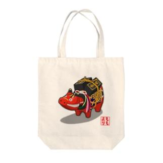 赤べこ 千両箱 Tote bags